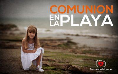 COMUNION REPORTAJES ORIGINALES. SESION EN LA PLAYA